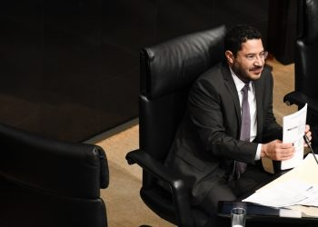 22 de Noviembre de 2018.-Sen. Rafael Moreno Valle, Sen. Martí Batres,  en la Sesión del Senado de la República, Ciudad de México.Foto:Benjamin Flores/Proceso